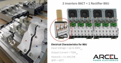 DC busbar connecting a B6CT inverter to a B6U rectifier