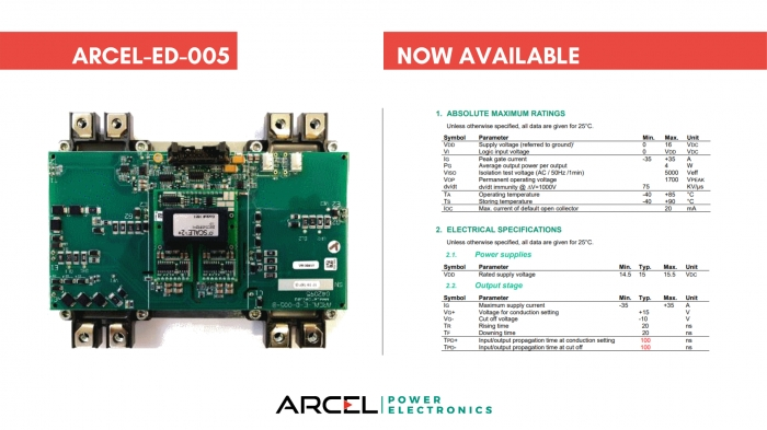 ARCAL-ED-005: an optimized driver to manage two ECONODUAL modules.